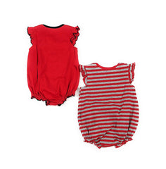 Outerstuff Cincinnati Reds Girls Baby Team Sparkle Clothing Apparel 2 Piece Creeper Set