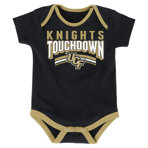 Outerstuff Central Florida Golden Knights 3-Piece Onesie Babysuit Clothing Apparel Set