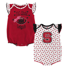Outerstuff North Carolina State Wolfpack 2 Piece Onesie Baby Clothing Apparel Set
