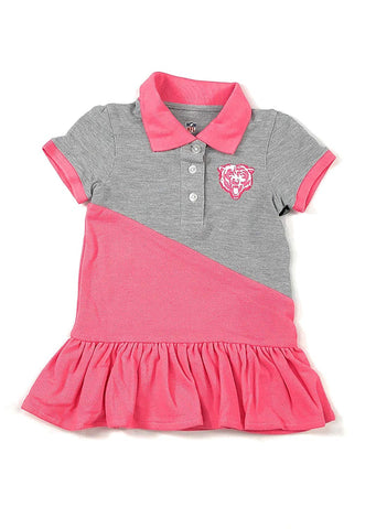 Outerstuff Chicago Bears Football Pink Girls Good Sport Polo Dress Clothing Apparel