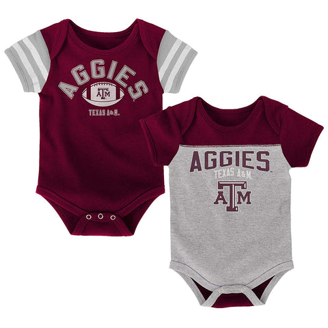 Outerstuff Vintage Texas A&M Aggies 2 Piece Onesie Baby Clothing Apparel Set