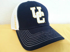 California Berkeley Adjustable Velcro Hat White Navy Blue