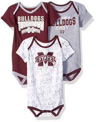 Outerstuff Mississippi State Bulldogs 3-Piece Onesie Babysuit Newborn and Infant Clothing Apparel Set