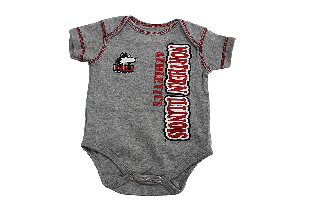Outerstuff Northern Illinois Rookie 3 Piece Creeper Apparel Set for Baby