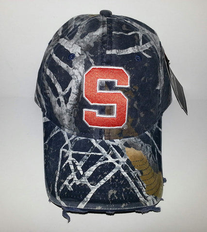 Syracuse University Adjustable Buckle Hat 3D Embroidered Distressed Cap