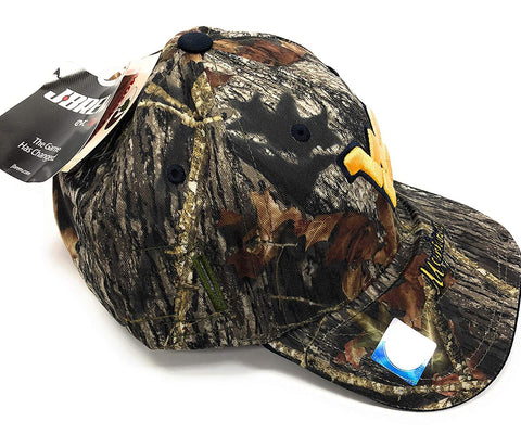 West Virginia Mountaineers EVO Cap, Camo Hat Holds Eyewear in Place
