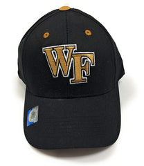 Wake Forest Demon Deacons Champ Style Hat/Cap Adjustable Velcro Closure- Black