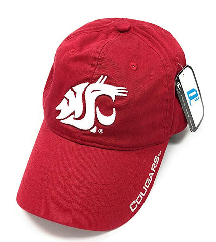 Sportsfanfantic NCAA Washington State Cougars Adjustable Back Cap Embroidered Hat, Red