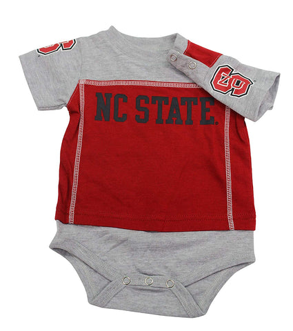 Outerstuff NC State Wolfpack Baby Clothing, University 3 Piece Creeper Bib Booties Apparel Set