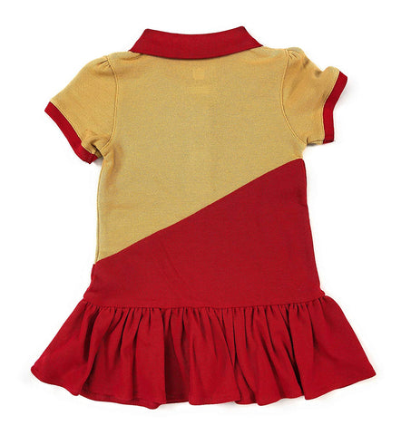 Outerstuff San Francisco 49ers Football Girls Good Sport Polo Dress Clothing Apparel