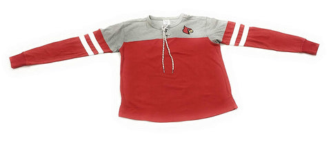 Louisville Cardinals Womens Long Sleeve ; Lace Tie Pullover University Apparel Clothing