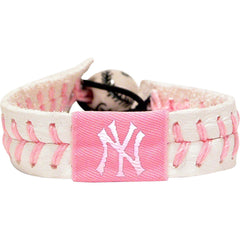 MLB New York Yankees Pink Baseball Bracelet