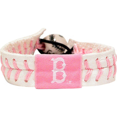 Image of MLB Boston Red Sox Pink Baseball Bracelet - 2