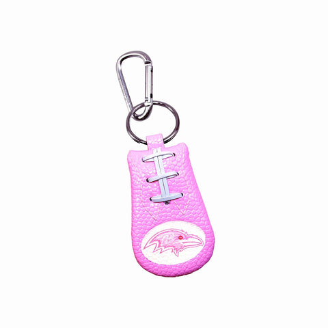 Baltimore Ravens Pink NFL Football Keychain