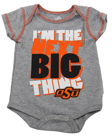 OuterStuff Oklahoma State Cowboys Baby Clothing, University 3 Piece Creeper Apparel Set