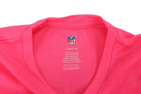 Team Apparel NFL Girl's Greenbay Packers Neon Pink Short Sleeve T Shirt