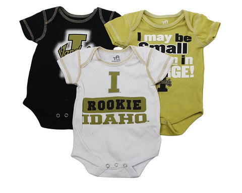 OuterStuff Idaho Vandals Baby Clothing, 3 Piece Creeper Apparel Set