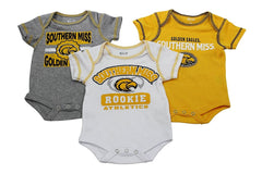 OuterStuff Baby Southern Miss Golden Eagles Rookie 3 Piece Creeper Set