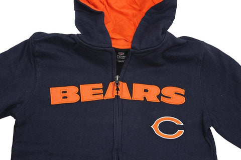 Team Apparel Youth Boy's Embroidered Chicago Bears Hooded Sweat Jacket