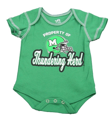 OuterStuff Baby Texas Marshall Thundering Herd Next Big Thing 3 Piece Creeper Set