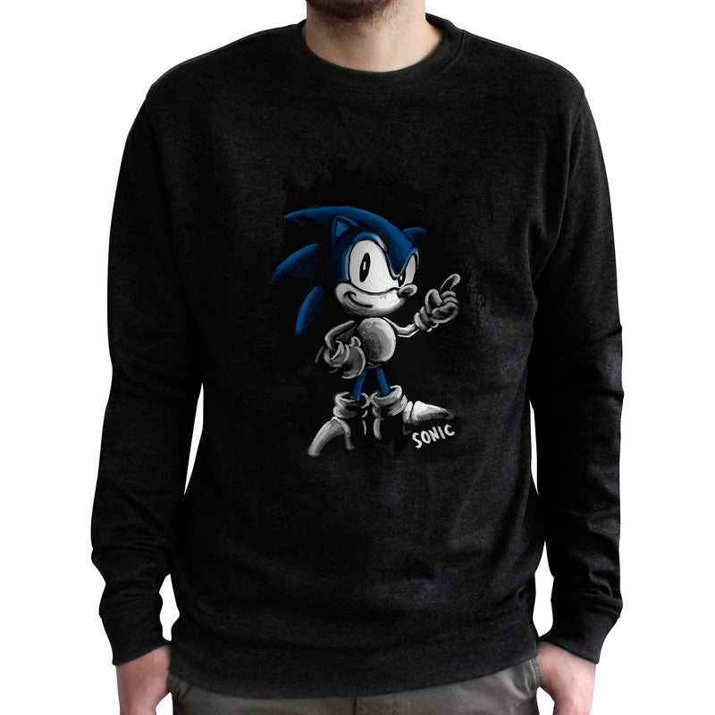Official Classic Sonic the Hedgehog Sketch 'Vintage' Crewneck