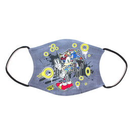 Official Sonic the Hedgehog Graffiti Face Mask
