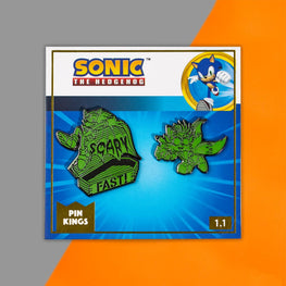 Pin Kings Modern Sonic the Hedgehog Glow in the Dark Halloween Sonic & Tails Enamel Pin Badge Set 1.1