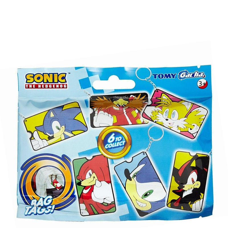Official Sonic The Hedgehog Gacha Mystery Bag Tags