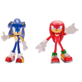 Official Sonic the Hedgehog Face Off 2 Pack Figurines - Sonic and Knuckles