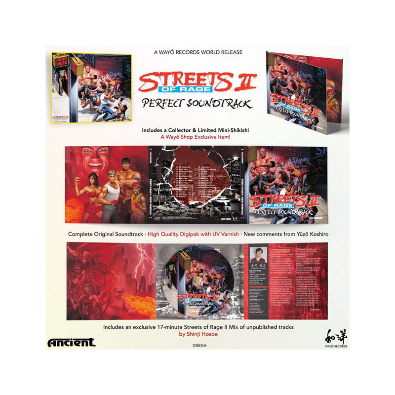Official Streets of Rage 2 Original Soundtrack CD