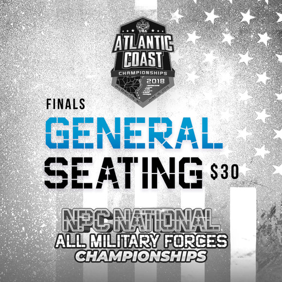 Atlantic Coast/All Military Tickets Finals - General Seating- $30
