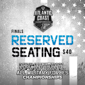 Atlantic Coast/All Military Tickets Finals - Reserved Seating- $40