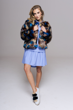 Faux Fur Jacket <span>Cobalt</span>