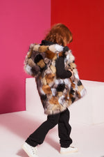 Kamizelka Faux Fur KIDS <span>Natural/Black</span>