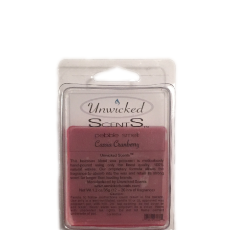 Unwicked Scents Pebble Melt - Cassia Cranberry