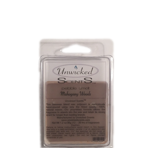 Unwicked Scents Pebble Melt - Mahogany Woods