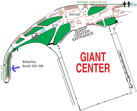 Booth Map for America's Largest RV Show