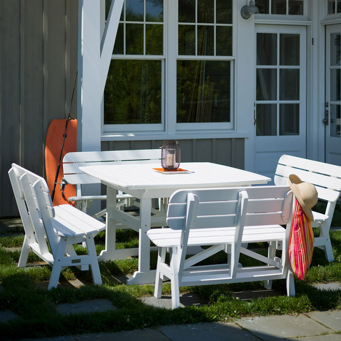 Seaside Casual Portsmouth Bench Outdoor Dining Set