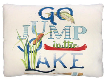 Outdoor Go Jump In The Lake Accent Pillow