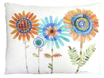 Fun Daisy Outdoor Accent Pillow