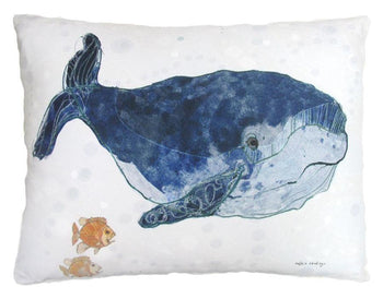 Whale Outdoor Accent Pillow