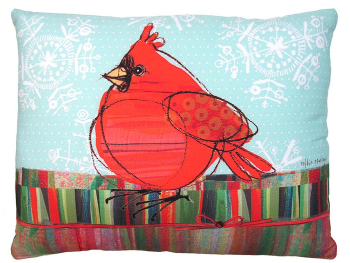 Holiday Cardinal Outdoor Accent Pillow