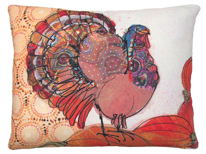 Thanksgiving Turkey Outdoor Accent Pillow