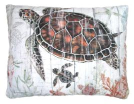 Sea Turtle Outdoor Accent Pillow