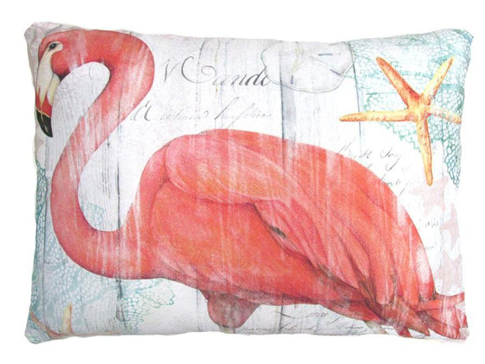 Pink Flamingo Outdoor Accent Pillow
