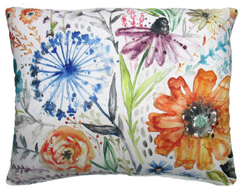 New Fun Flower Outdoor Accent Pillow