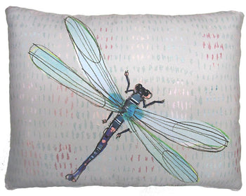 Dragonfly Graphic Outdoor Accent Pillow