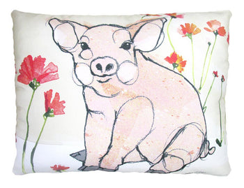 Cute Pig Outdoor Accent Pillow