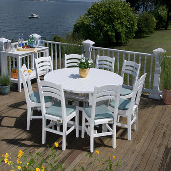 Seaside Casual Dining for 8 with Salem Dining Table and Charleston Side chairs