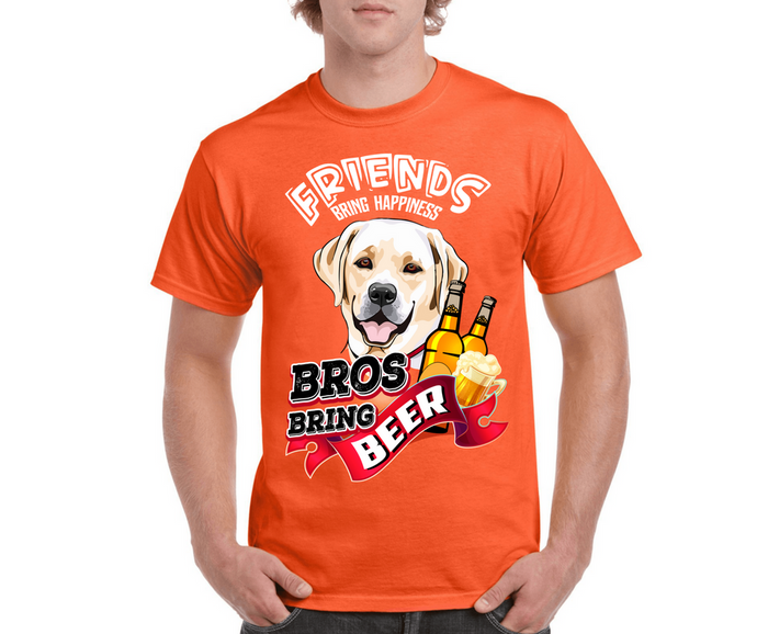 Friends Bring Happiness Bros Bring Beer Unisex T-Shirt™
